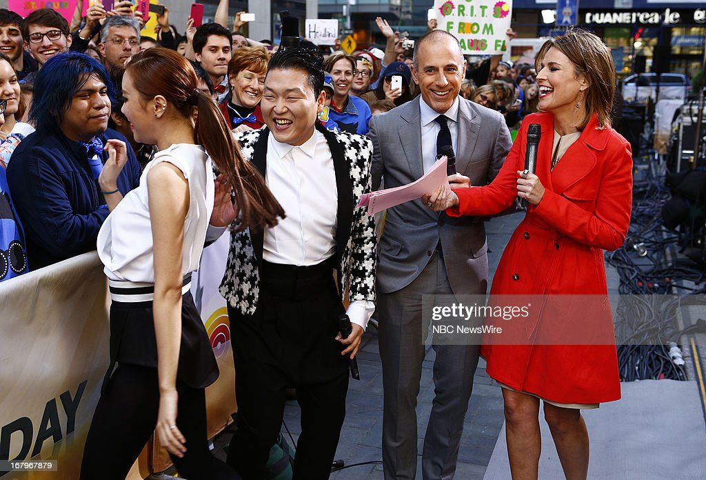 Psy, Matt Lauer and Savannah Guthrie appear on NBC News' 'Today' show --