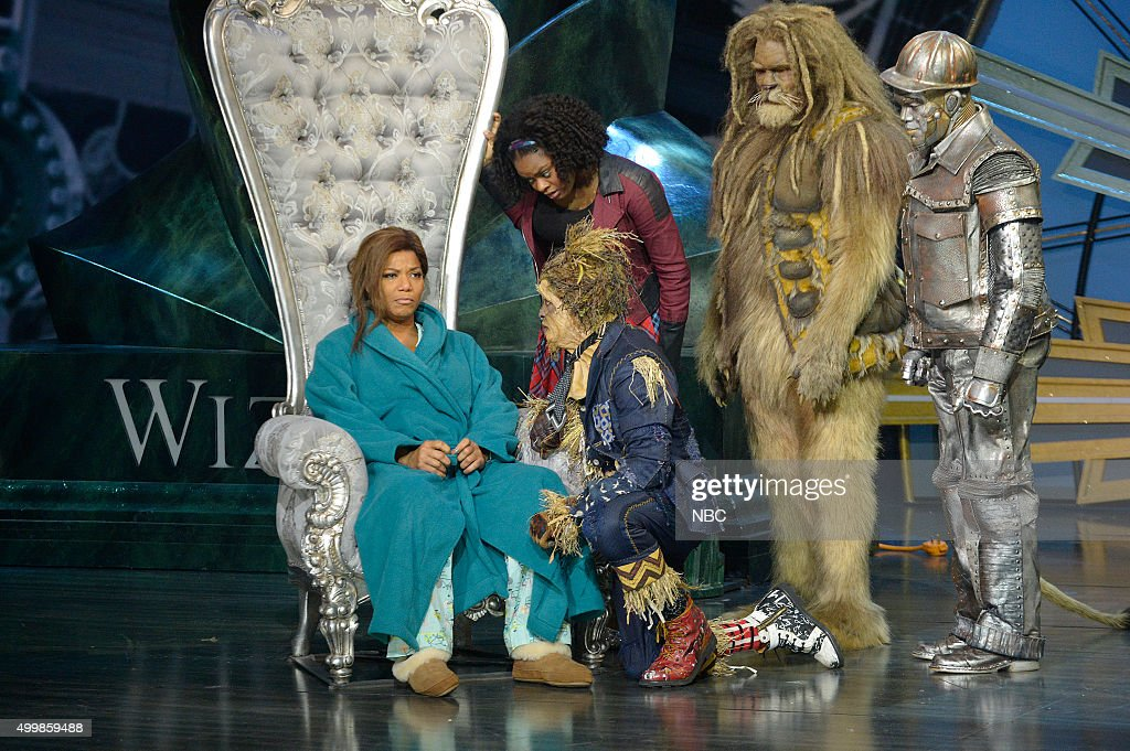 Queen Latifah as The Wiz, Shanice Williams as Dorothy, Elijah Kelley as Scarecrow, David Alan Grier as Lion, Ne-Yo as Tin-Man --