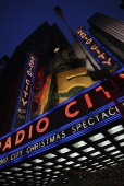Radio City Music Hall displays the 75th Anniversary sign during the 2007 holiday season New York New York on November 17 2007 Photo by Curtis...