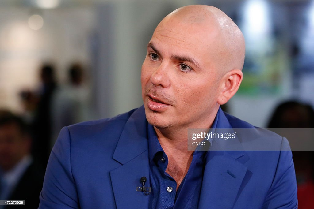 Rapper Armando Christian Perez, otherwise known as <a gi-track='captionPersonalityLinkClicked' href=/galleries/search?phrase=Pitbull+-+Rapper&family=editorial&specificpeople=206389 ng-click='$event.stopPropagation()'>Pitbull</a>, in an interview during the eMerge Conference on May 4, 2015 --