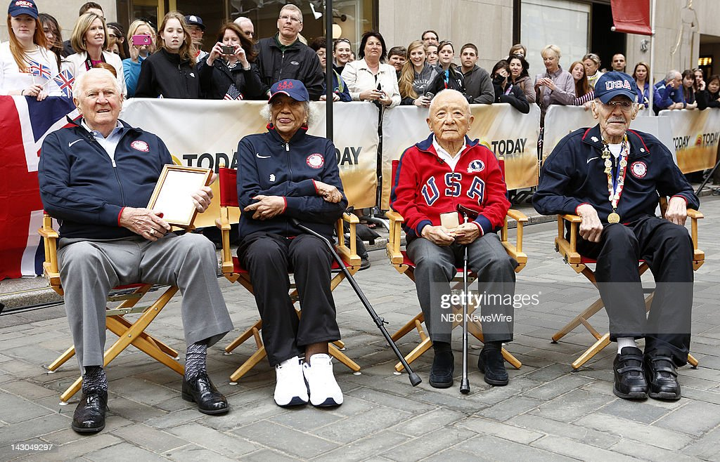 Ray Lumpp, Alice Coachman, Sammy Lee and Mal Whitfield appear on NBC News' 'Today' show --