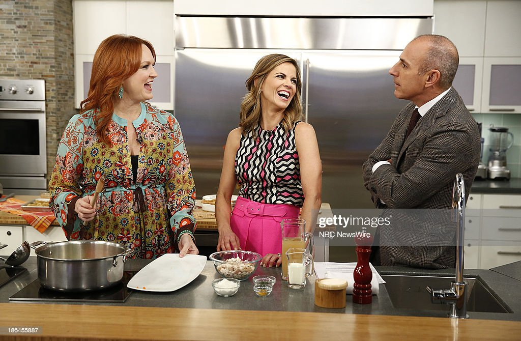 Ree Drummond, <a gi-track='captionPersonalityLinkClicked' href=/galleries/search?phrase=Natalie+Morales+-+News+Anchor&family=editorial&specificpeople=710956 ng-click='$event.stopPropagation()'>Natalie Morales</a> and <a gi-track='captionPersonalityLinkClicked' href=/galleries/search?phrase=Matt+Lauer&family=editorial&specificpeople=206146 ng-click='$event.stopPropagation()'>Matt Lauer</a> appear on NBC News' 'Today' show --