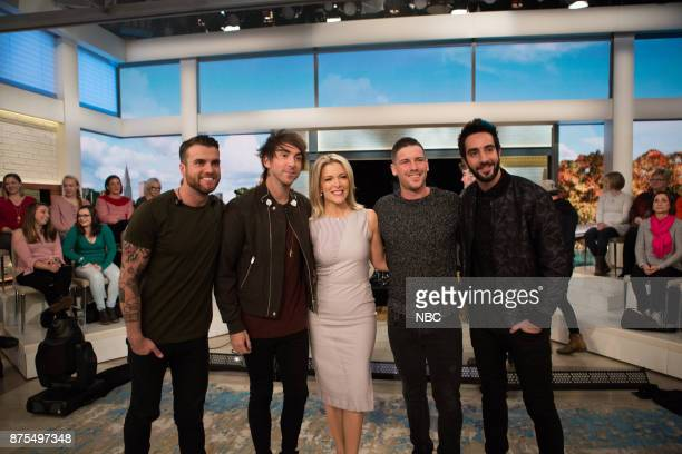 Rian Dawson Alex Gaskarth Zack Merrick Jack Barakat of All Time Low Megyn Kelly on Friday November 17 2017