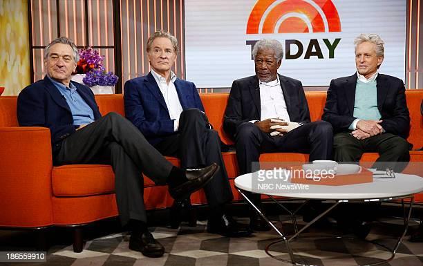 Robert De Niro Kevin Kline Morgan Freeman and Michael Douglas appear on NBC News' 'Today' show