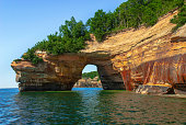 Arch in Pictured Rocks National Lakeshore. Michigan, USA.