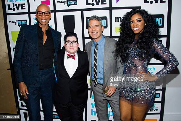 RuPaul Lea DeLaria Andy Cohen and Porsha Stewart Photo by Charles Sykes/Bravo/NBCU Photo Bank via Getty Images