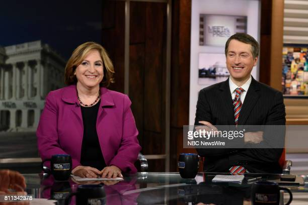Ruth Marcus Columnist The Washington Post and Rich Lowry Editor National Review appear on 'Meet the Press' in Washington DC Sunday July 9 2017