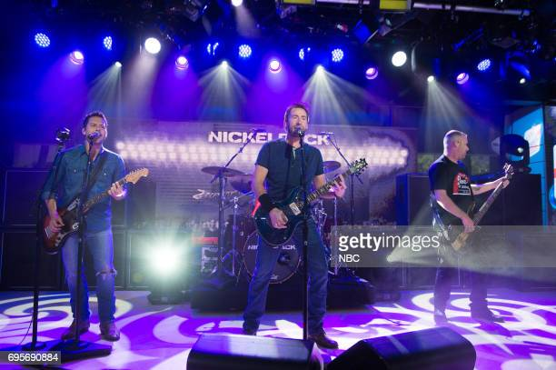 Ryan Peake Chad Kroeger Daniel Adair Mike Kroeger of Nickelback on Monday June 13 2017
