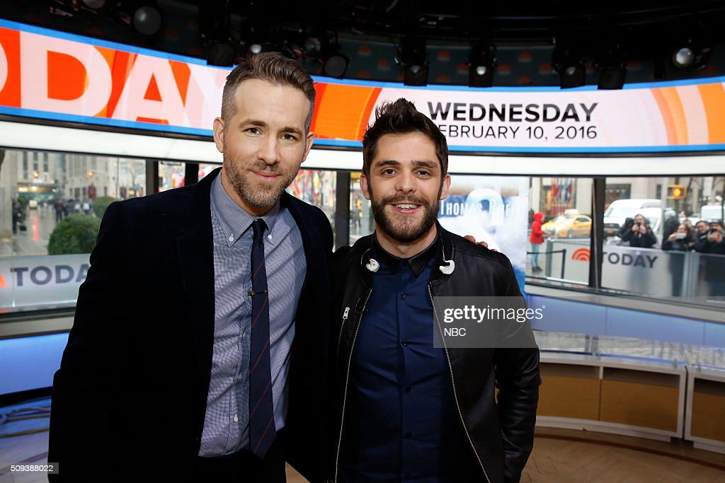 "NBC's ""Today"" With Guests Penelope Cruz, Ryan Reynolds, Thomas Rhett, Forest Whitaker, Fran Drescher"