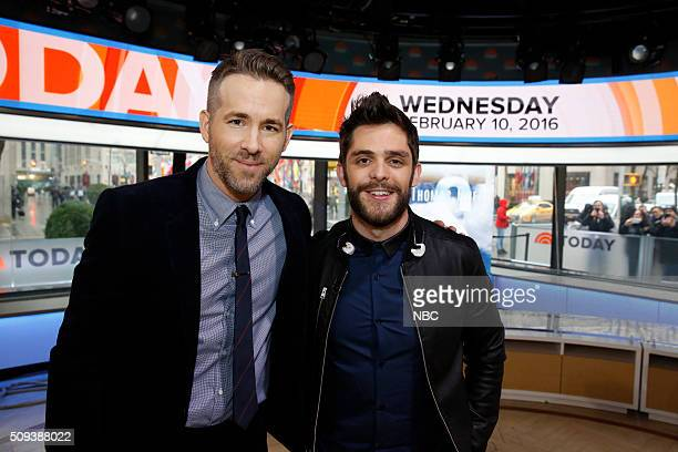 Ryan Reynolds and Thomas Rhett appear on the 'Today' show on Wednesday February 10 2016