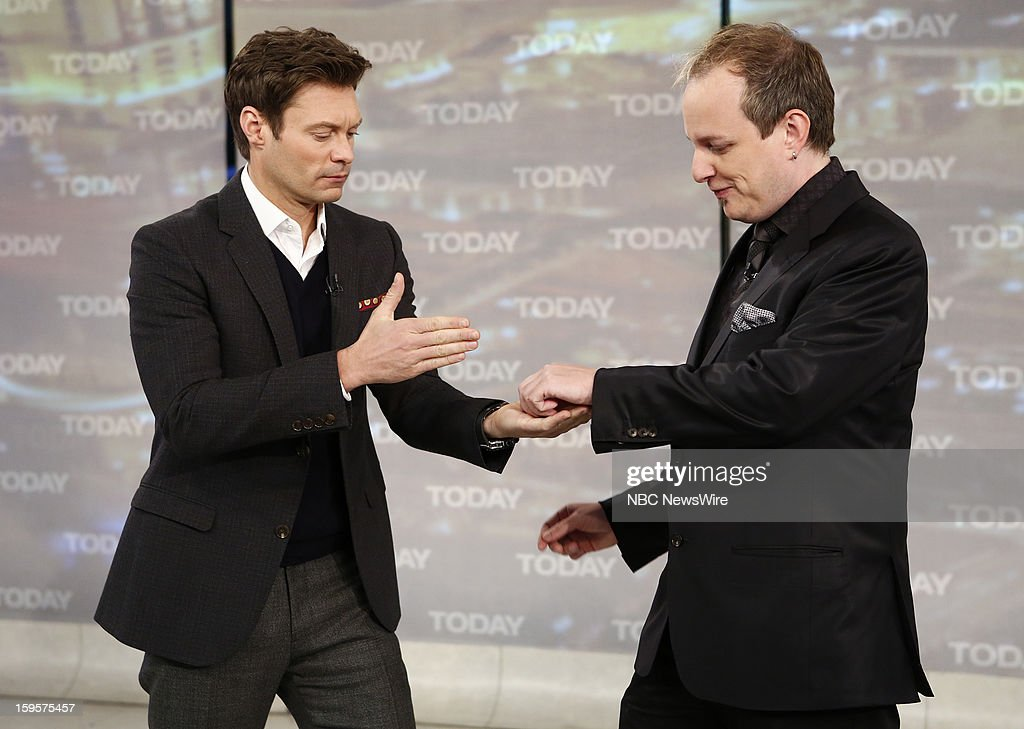 Ryan Seacrest and Apollo Robbins appear on NBC News' 'Today' show --