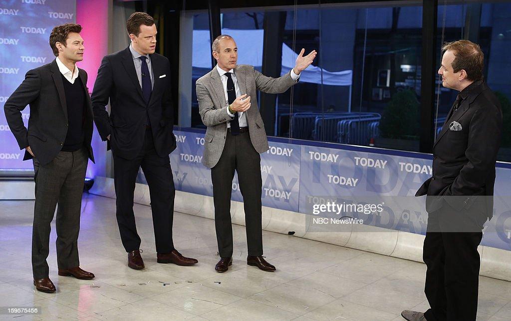 Ryan Seacrest, Willie Geist, Matt Lauer and Apollo Robbins appear on NBC News' 'Today' show --