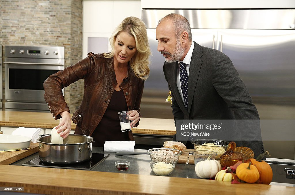 Sandra Lee and Matt Lauer appear on NBC News' 'Today' show --