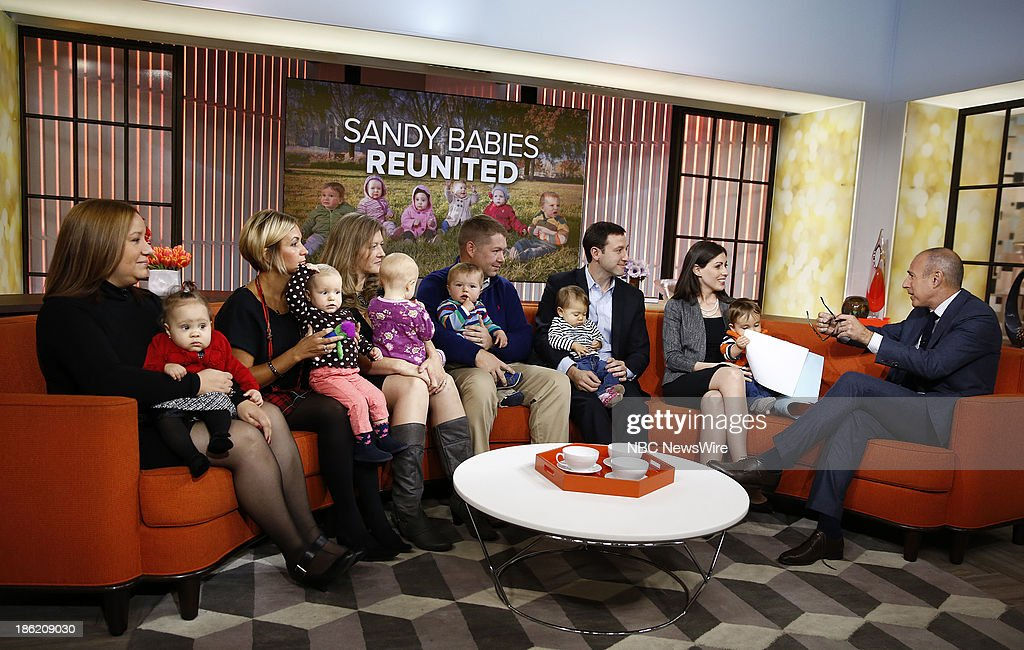 Sandy Babies with parents and Matt Lauer appear on NBC News' 'Today' show --