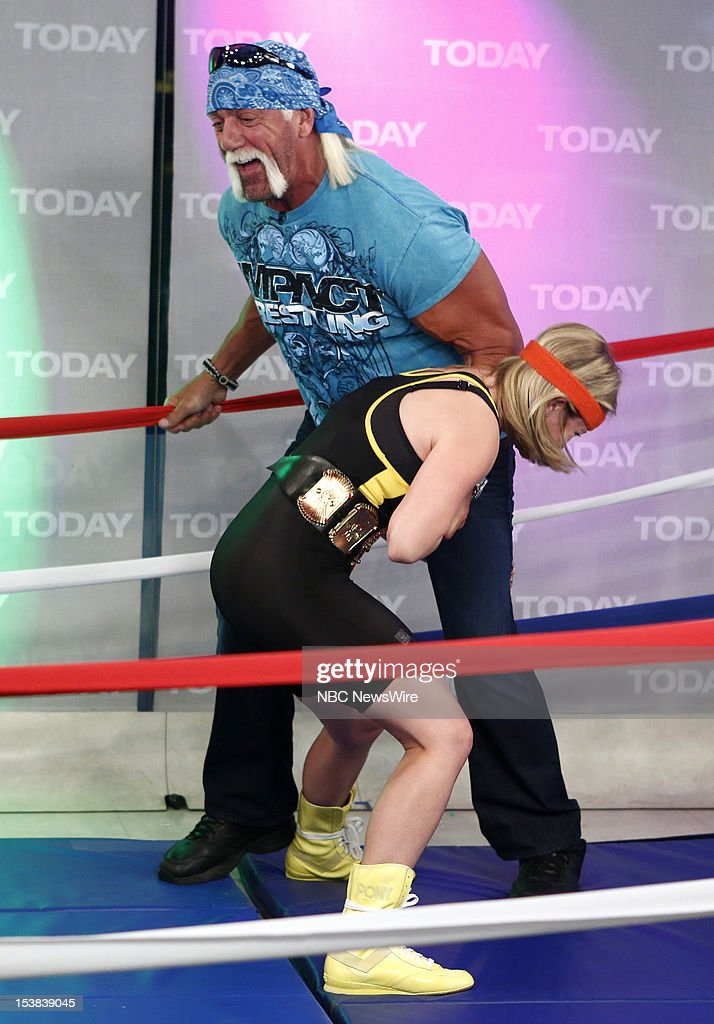 Sara Haines and <a gi-track='captionPersonalityLinkClicked' href=/galleries/search?phrase=Hulk+Hogan&family=editorial&specificpeople=209432 ng-click='$event.stopPropagation()'>Hulk Hogan</a> appear on NBC News' 'Today' show --