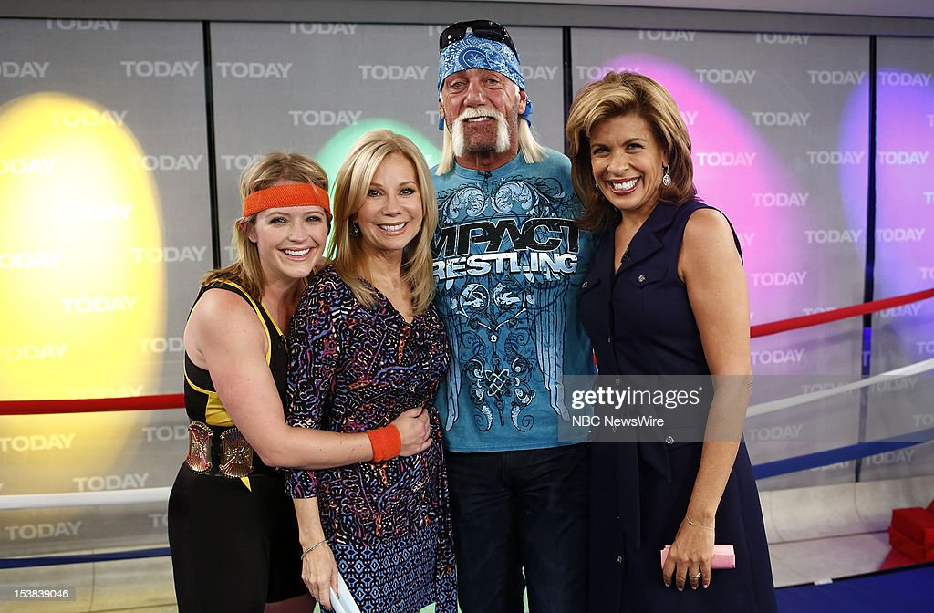 Sara Haines, <a gi-track='captionPersonalityLinkClicked' href=/galleries/search?phrase=Kathie+Lee+Gifford&family=editorial&specificpeople=203269 ng-click='$event.stopPropagation()'>Kathie Lee Gifford</a>, <a gi-track='captionPersonalityLinkClicked' href=/galleries/search?phrase=Hulk+Hogan&family=editorial&specificpeople=209432 ng-click='$event.stopPropagation()'>Hulk Hogan</a> and <a gi-track='captionPersonalityLinkClicked' href=/galleries/search?phrase=Hoda+Kotb&family=editorial&specificpeople=2338013 ng-click='$event.stopPropagation()'>Hoda Kotb</a> appear on NBC News' 'Today' show --