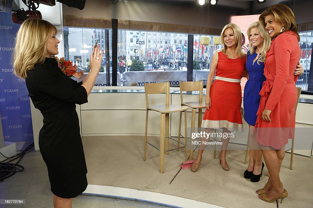 Sara Haines, Kathie Lee Gifford, Megan Hilty and Hoda Kotb appear on NBC News' 'Today' show --