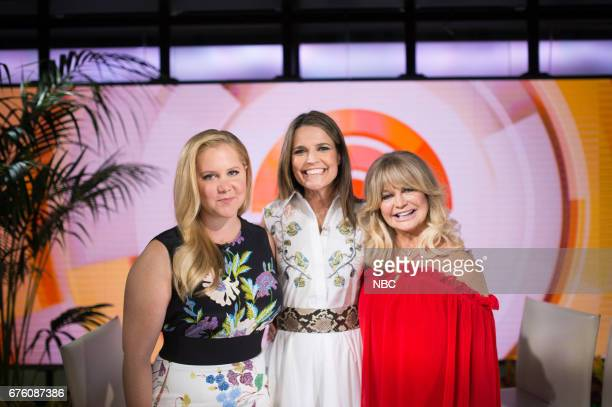 Savannah Guthrie Amy Schumer and Goldie Hawn on Monday May 1 2017