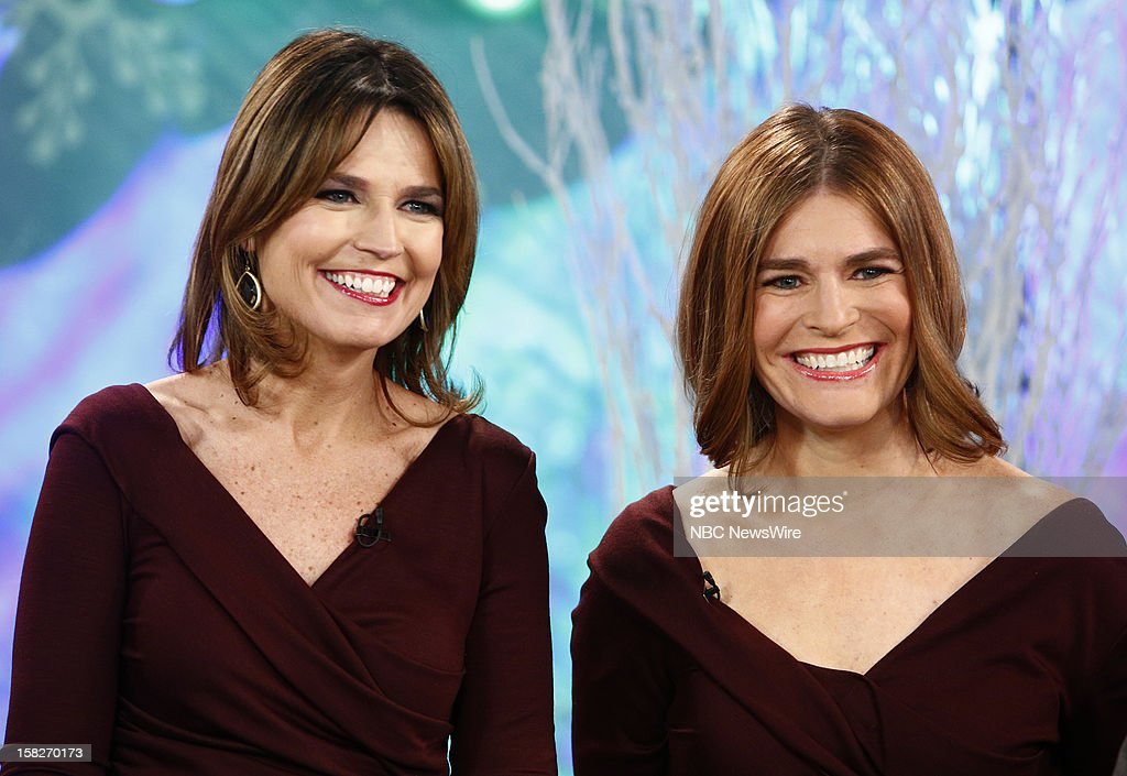 Savannah Guthrie and a look-alike appear on NBC News' 'Today' show --