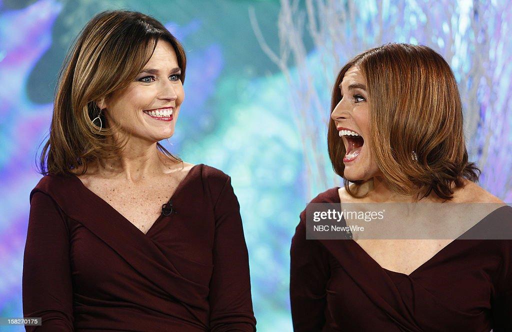 Savannah Guthrie and a look-alike appear on NBC News' 'Today' show --