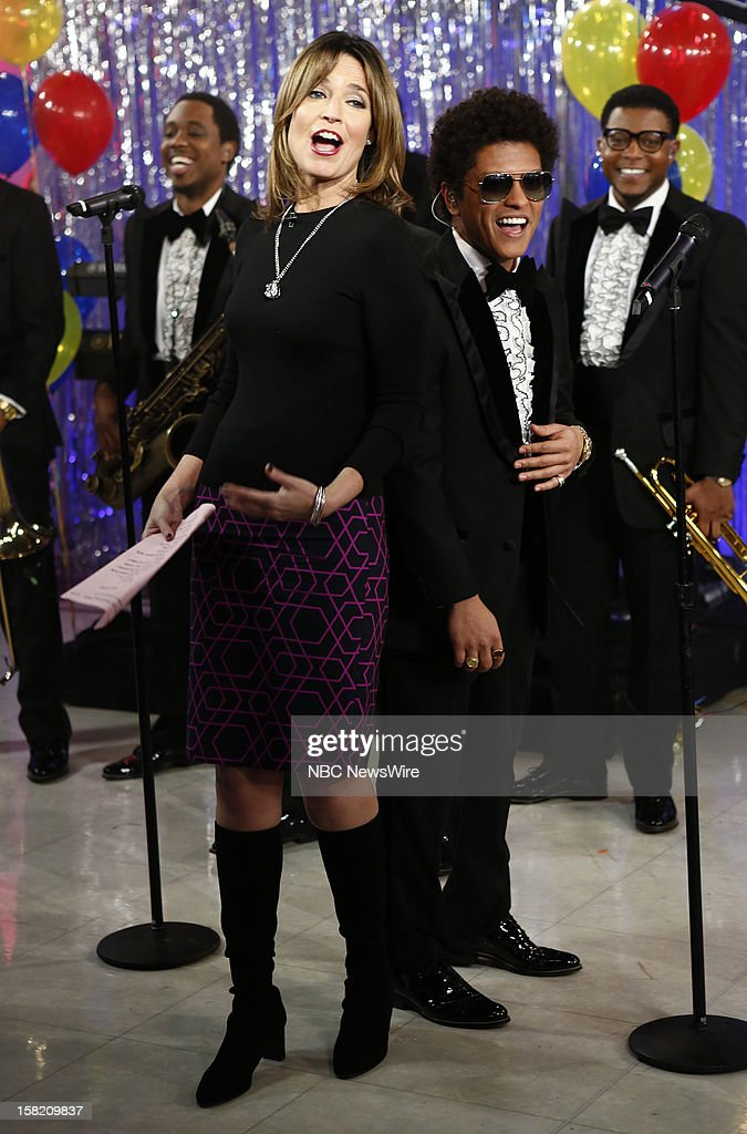 Savannah Guthrie and Bruno Mars appear on NBC News' 'Today' show --