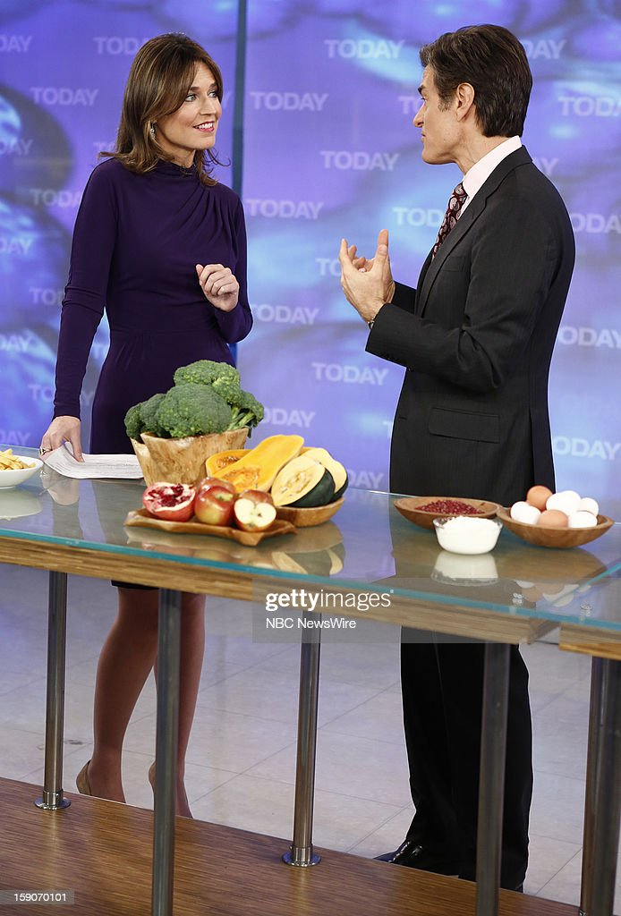 Savannah Guthrie and Dr. Mehmet Oz appear on NBC News' 'Today' show --
