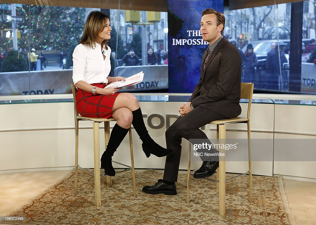 Savannah Guthrie and Ewan McGregor appear on NBC News' 'Today' show --