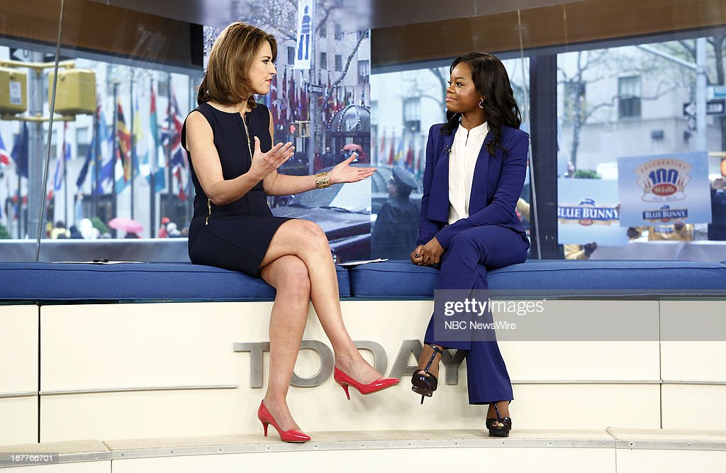 Savannah Guthrie and Gabby Douglas appear on NBC News' 'Today' show --