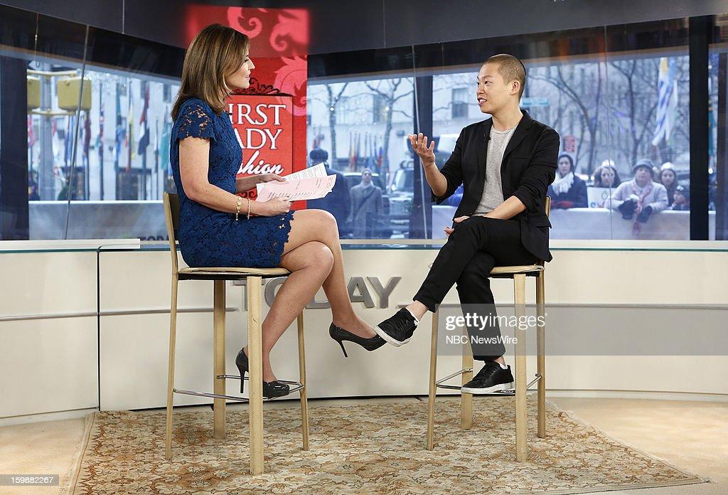 Savannah Guthrie and Jason Wu appear on NBC News' 'Today' show --