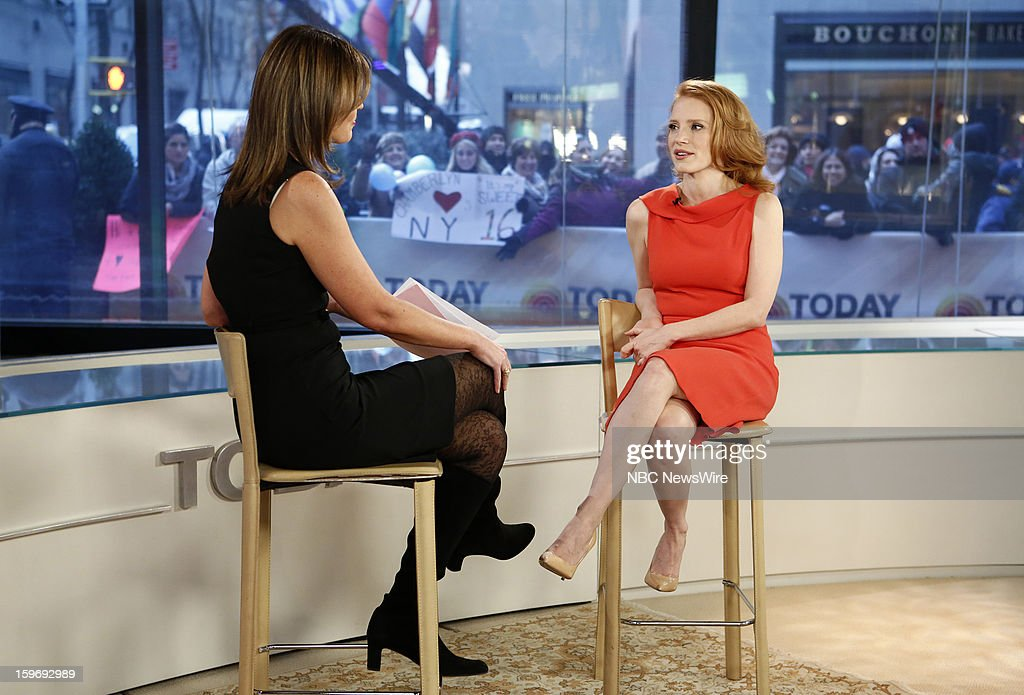 Savannah Guthrie and Jessica Chastain appear on NBC News' 'Today' show --