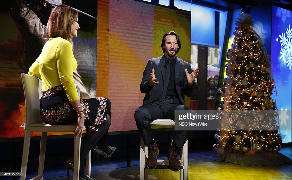 Savannah Guthrie and Keanu Reeves appear on NBC News' 'Today' show --