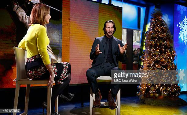 Savannah Guthrie and Keanu Reeves appear on NBC News' 'Today' show
