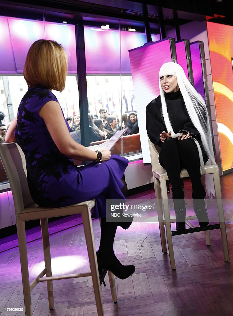 Savannah Guthrie and Lady Gaga appear on NBC News' 'Today' show --
