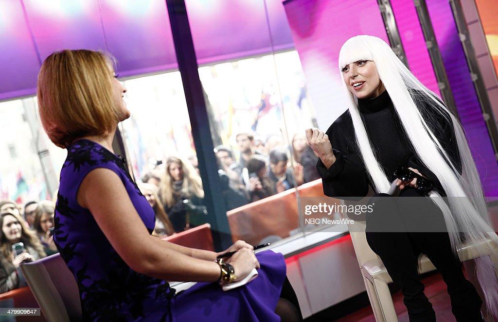 Savannah Guthrie and Lady Gaga appear on NBC News' 'Today' show --