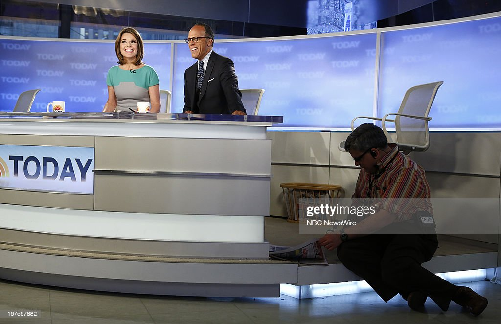 Savannah Guthrie and Lester Holt appear on NBC News' 'Today' show --