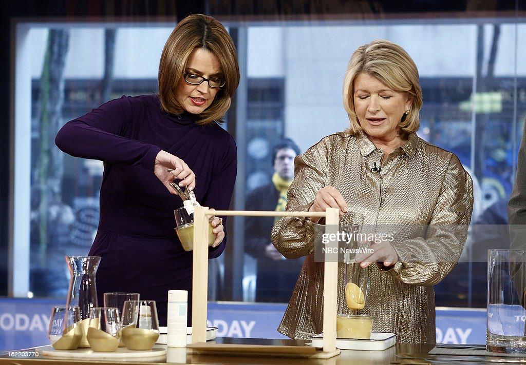 Savannah Guthrie and Martha Stewart appear on NBC News' 'Today' show --