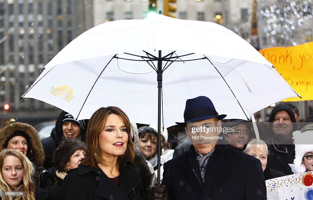 Savannah Guthrie and Matt Lauer appear on NBC News' 'Today' show --