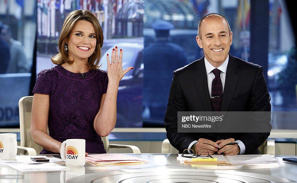 Savannah Guthrie and Matt Lauer appear on NBC News' 'Today' show --