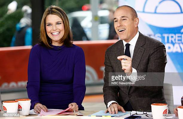 Savannah Guthrie and Matt Lauer appear on NBC News' 'Today' show