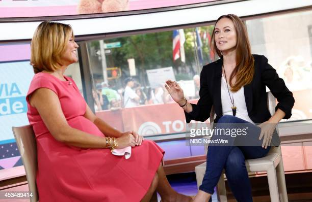 Savannah Guthrie and Olivia Wilde appear on NBC News' 'Today' show