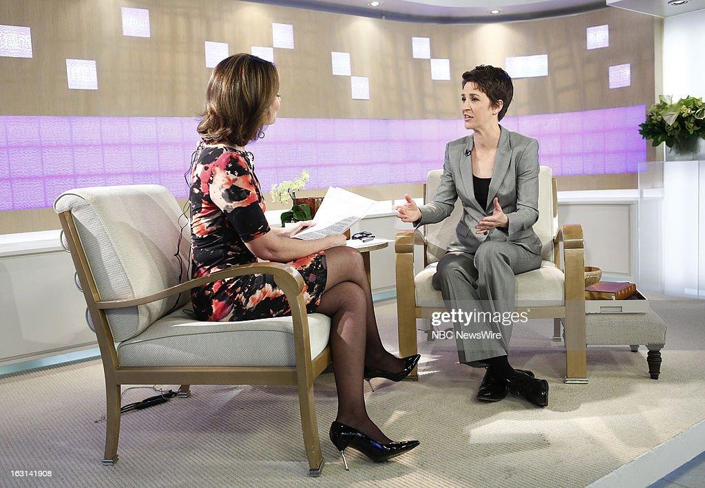 Savannah Guthrie and Rachel Maddow appear on NBC News' 'Today' show --