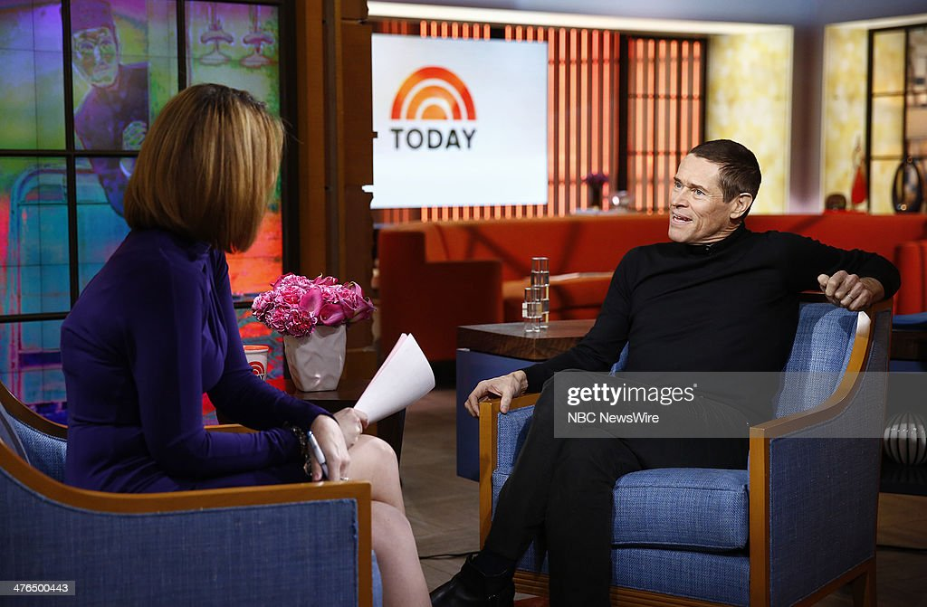 Savannah Guthrie and Willem Dafoe appear on NBC News' 'Today' show --