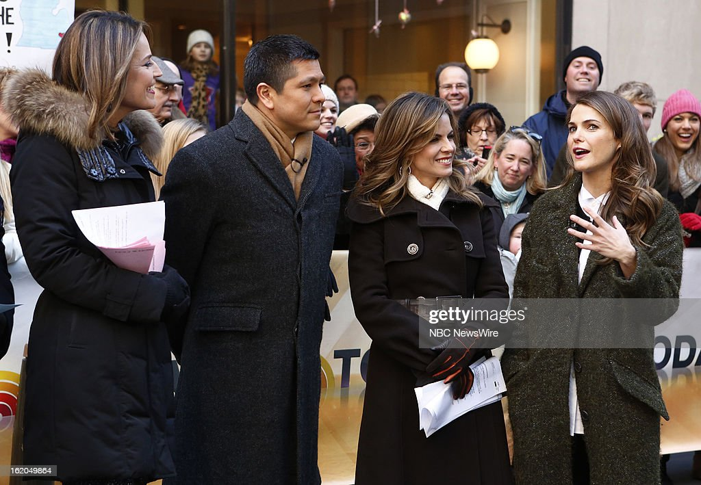 Savannah Guthrie, Carl Quintanilla, Natalie Morales and Keri Russell appear on NBC News' 'Today' show --