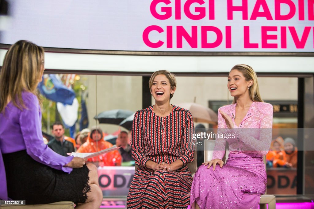 Savannah Guthrie, Cindi Leive and Gigi Hadid on Monday, November 13, 2017 --