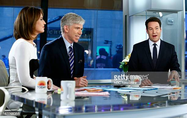Savannah Guthrie David Gregory and Jeff Rossen appear on NBC News' 'Today' show