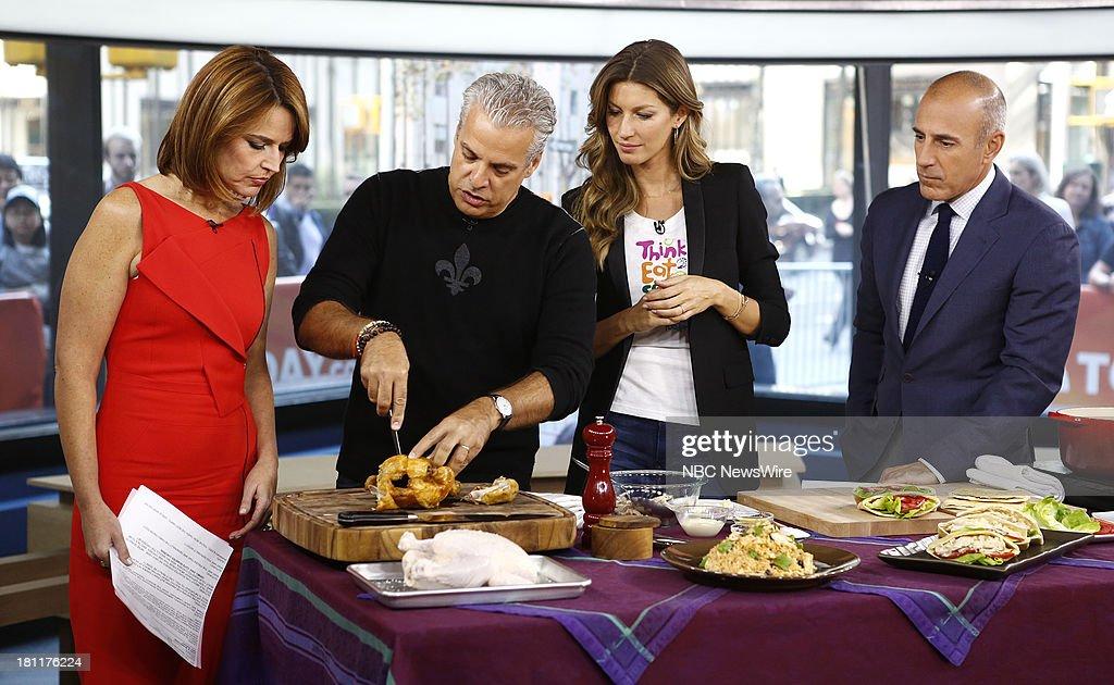 Savannah Guthrie, Eric Ripert, Gisele Bundchen and Matt Lauer appear on NBC News' 'Today' show --