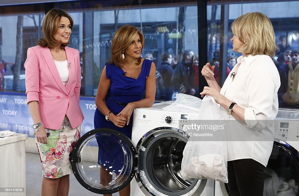 Savannah Guthrie, Hoda Kotb and Martha Stewart appear on NBC News' 'Today' show on March 20, 2013 --