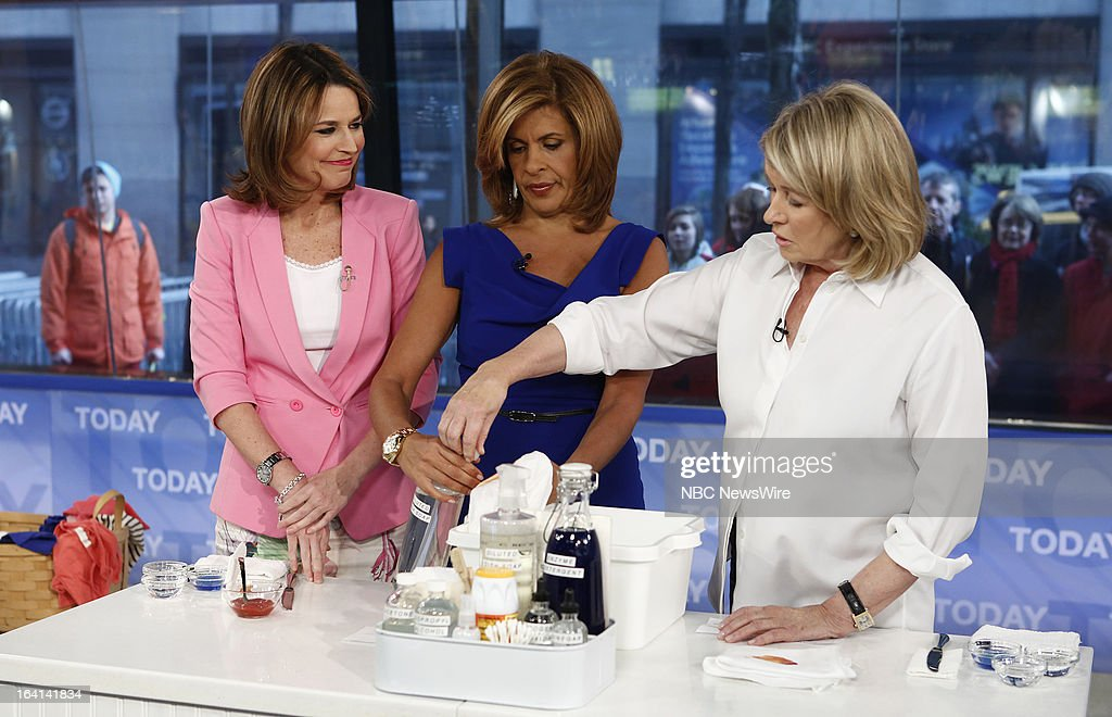 Savannah Guthrie, Hoda Kotb and Martha Stewart appear on NBC News' 'Today' show on March 20, 2013 --