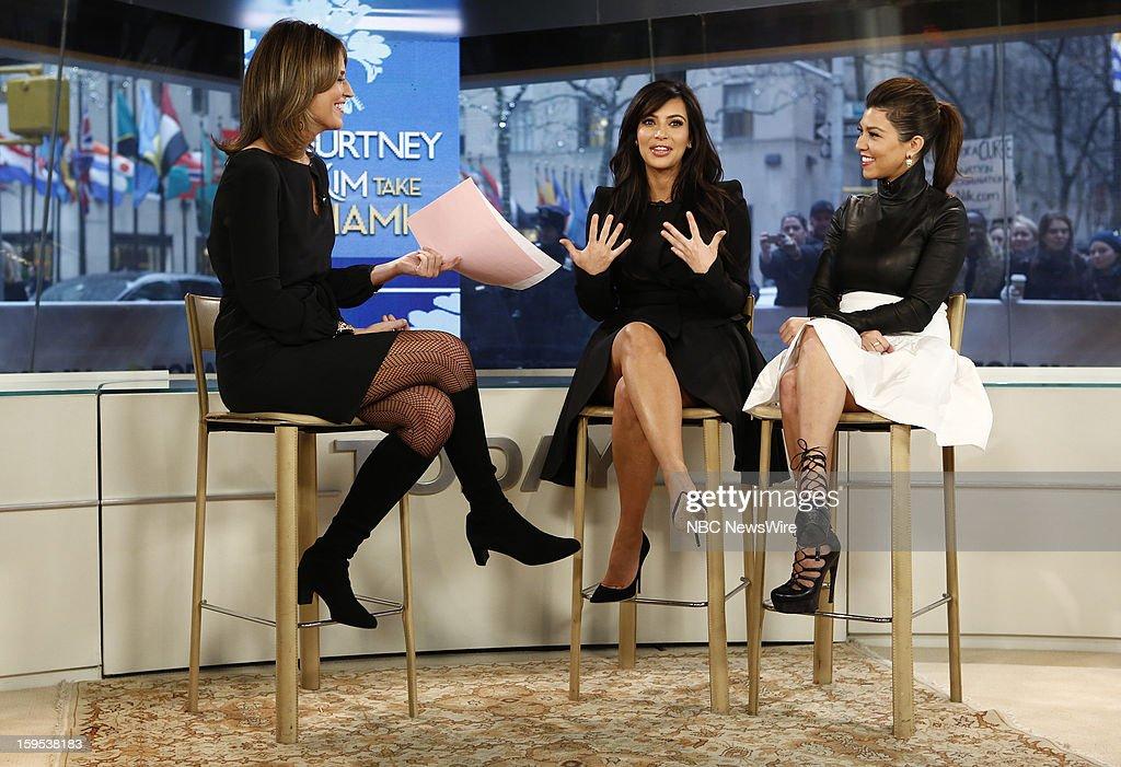 Savannah Guthrie, Kim Kardashian and Kourtney Kardashian appear on NBC News' 'Today' show --