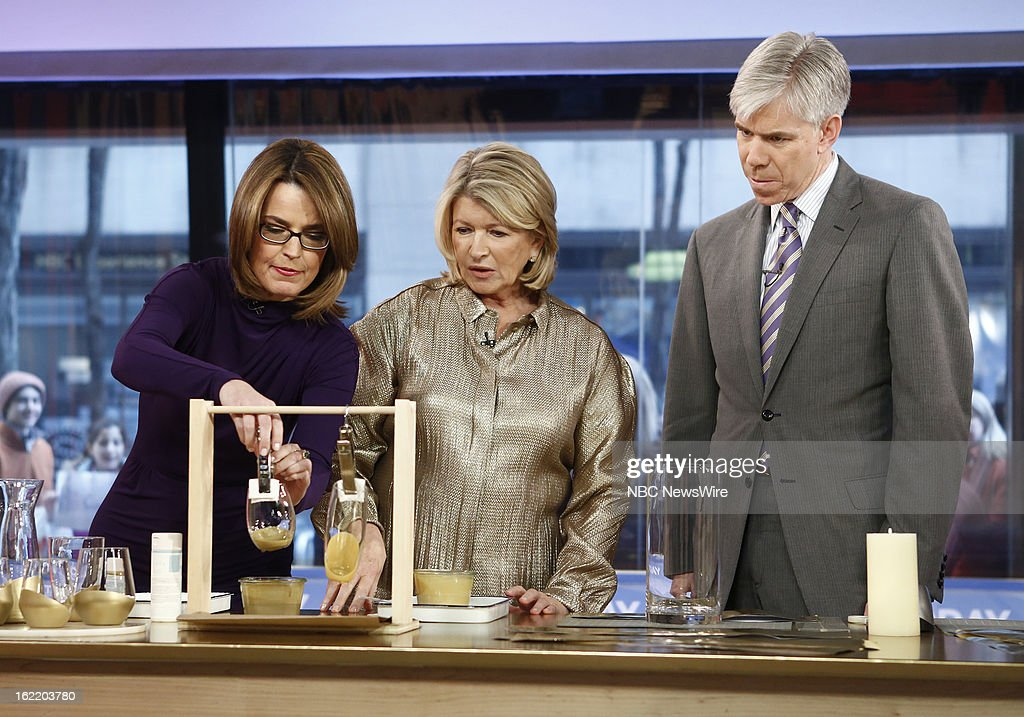 Savannah Guthrie, Martha Stewart and David Gregory appear on NBC News' 'Today' show --